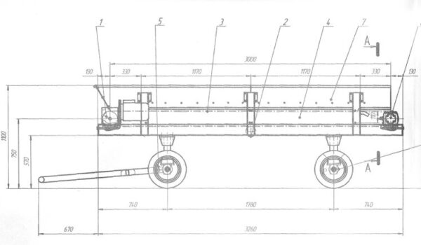 Конвейер передвижной ленточный кпл2-500-3.0