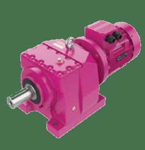 Цилиндрические соосные мотор-редукторы на лапах MV
