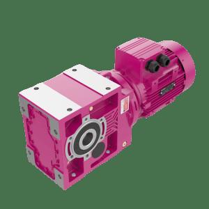 Конически-цилиндрические мотор-редукторы компактного исполнения КR