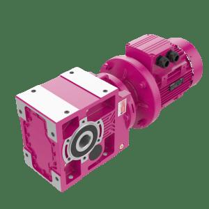 Конически-цилиндрические мотор-редукторы КV