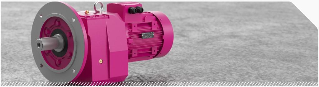 Цилиндрические соосные мотор-редукторы на фланце компактного исполнения NR