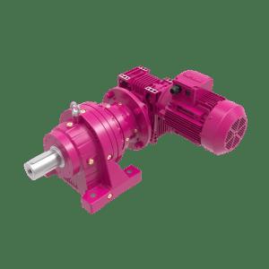 Комбинированные планетарные мотор-редукторы на лапах с мотор-редуктор на входе R + KR/EV